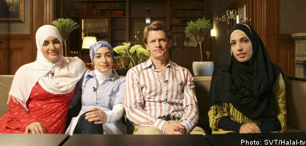 Muslim Talk Show Halal-TV (Image via SVT)
